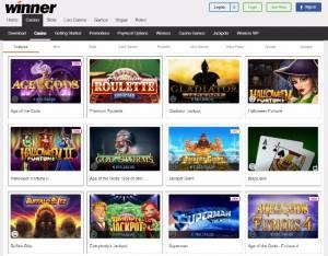 winner casino online pokies